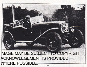 Harry James piloting 7h.p. Th. Schneider to class win in June 1927 VLLC reliability trial