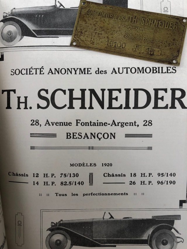 1919 THS chassis plate